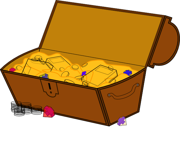 Treasure chest clipart free images 5