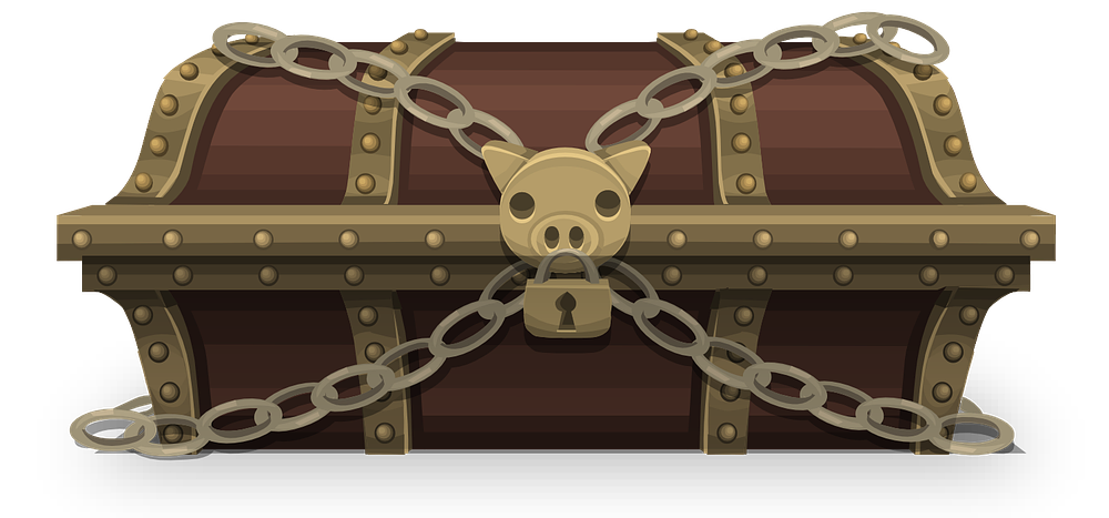 Treasure chest free to use clipart
