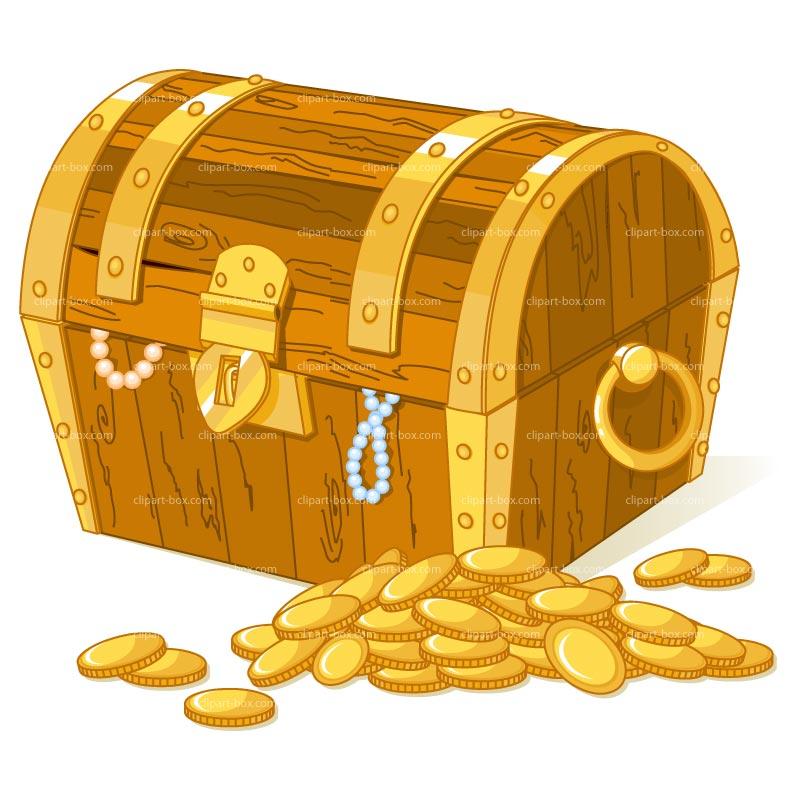 Treasure chest pirate treasure clipart