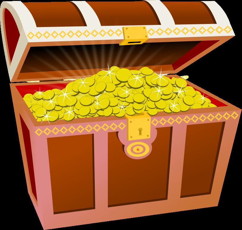 Treasure chest treasure clipart