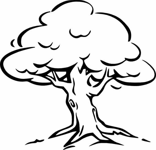 Tree black and white clipart