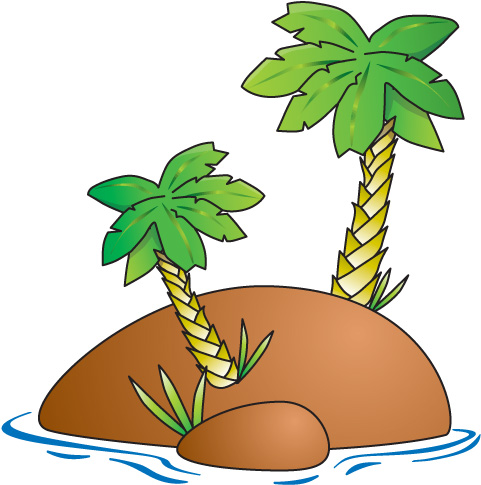 Tropical island clipart free images 2