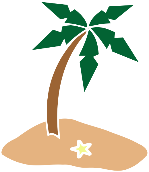 Tropical island clipart free images
