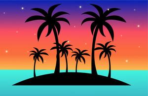 Tropical island clipart image a clip art