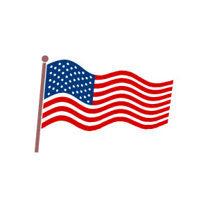Us flag american free clip art clipart