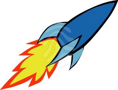 Vector rocket clipart image
