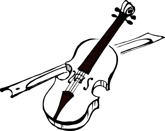 Violin clipart black and white free images