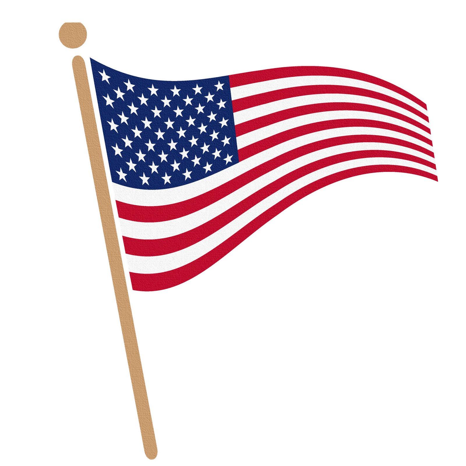 Waving american flag clip art clipart bay