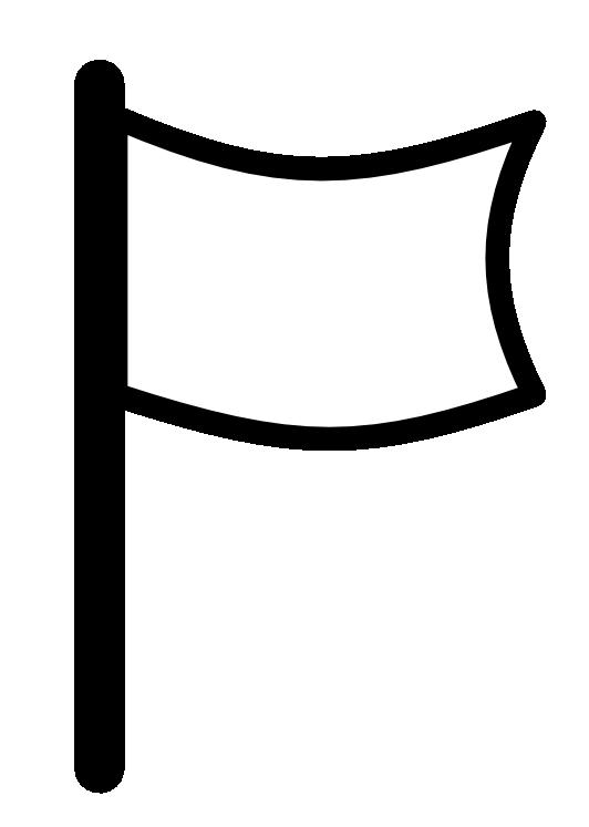 White flag clipart