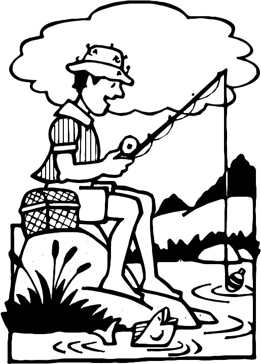 Woman fishing clipart free images 4