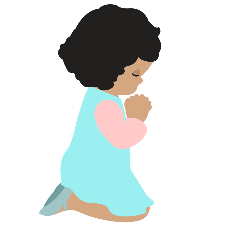 Women in prayer clipart