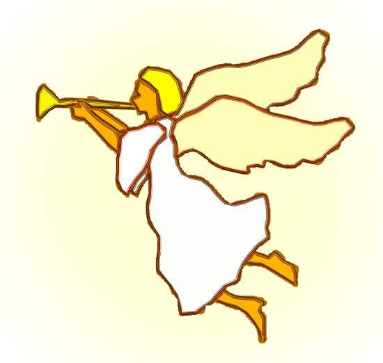 Angel blowing trumpet clipart