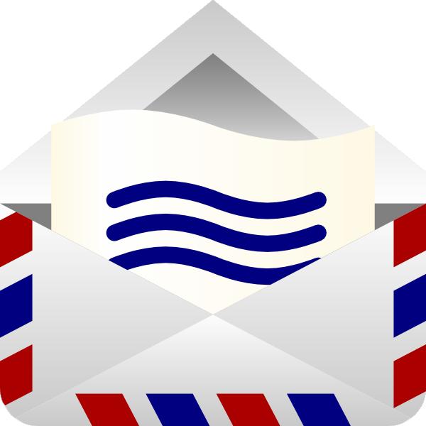 Barretr air mail envelope clip art at vector clip art