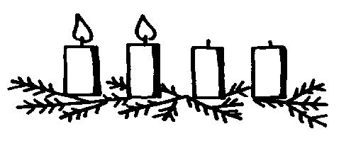 Black and white advent candle clip art clipartfest