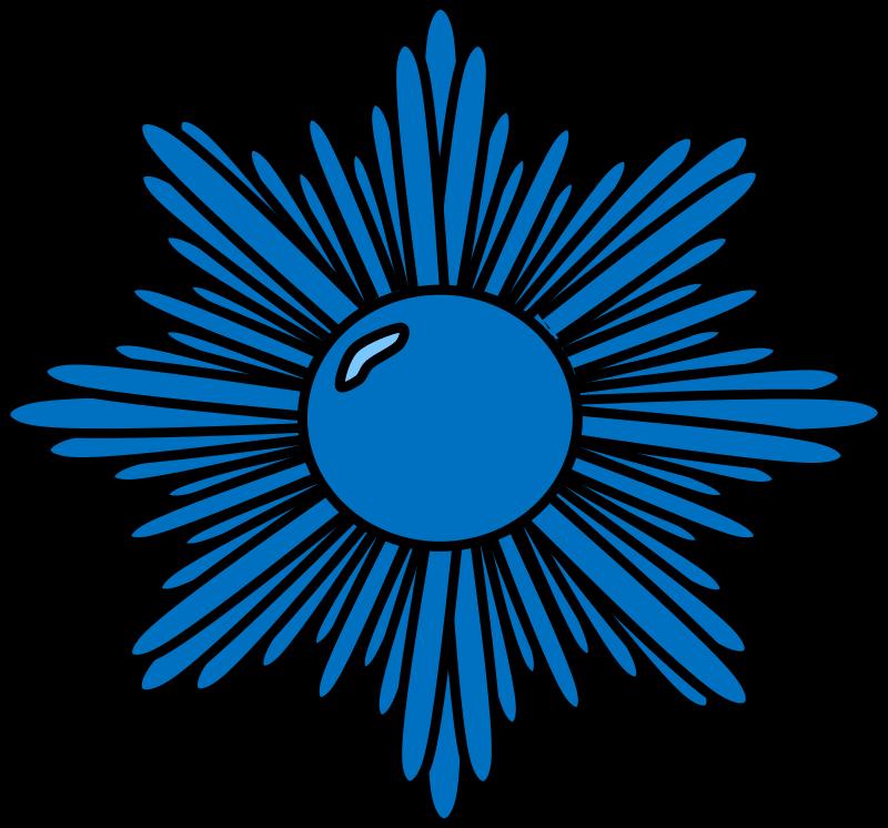 Blue starburst clipart 2