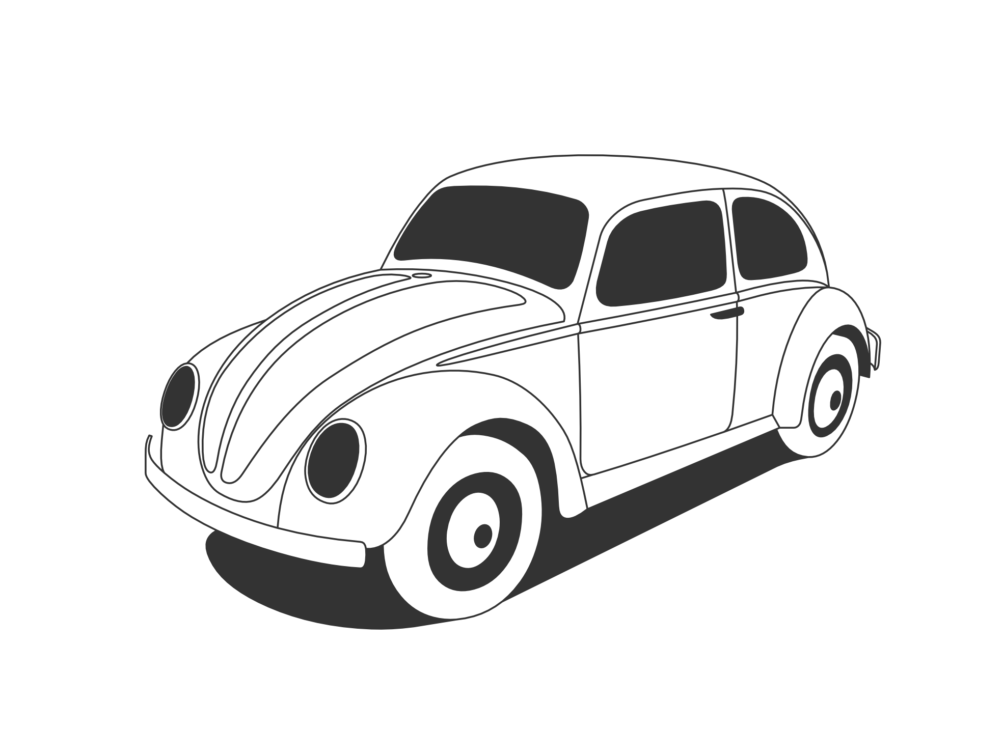 Car  black and white retro car clipart black and white clipartfest