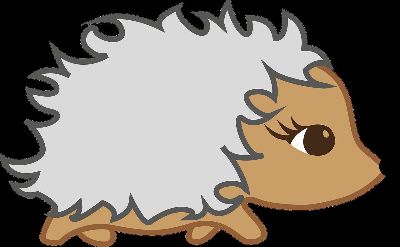 Cartoon hedgehog clipart clipartfest