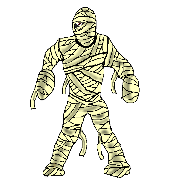 Cartoon mummy clipart