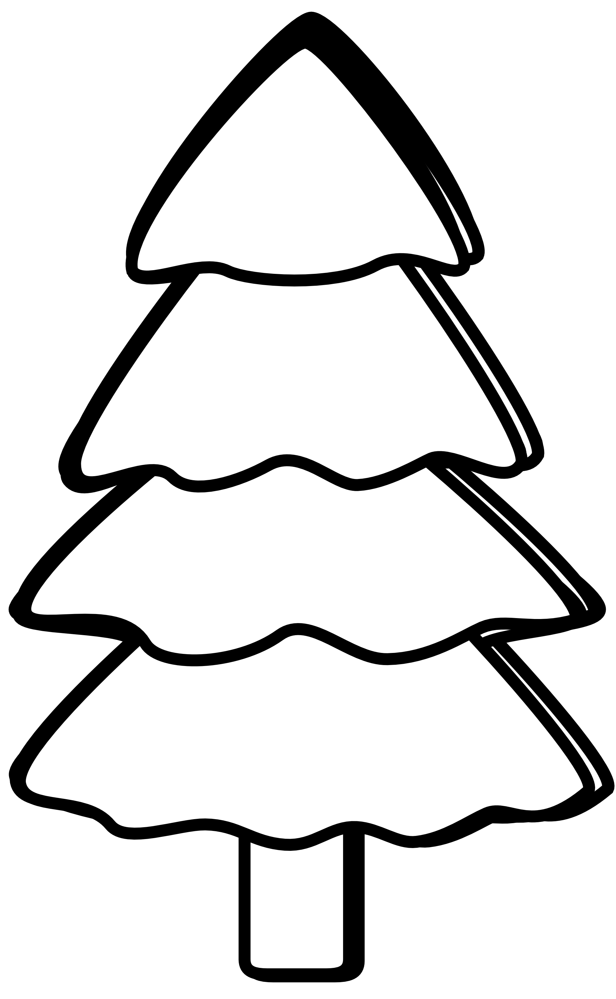 Christmas tree  black and white black and white xmas tree clipart 3