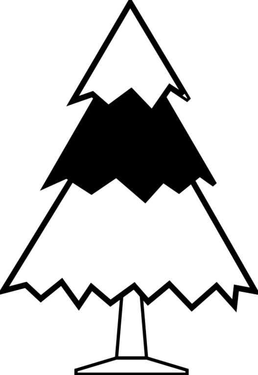 Christmas tree  black and white christmas tree clip art black and white clipart free to use