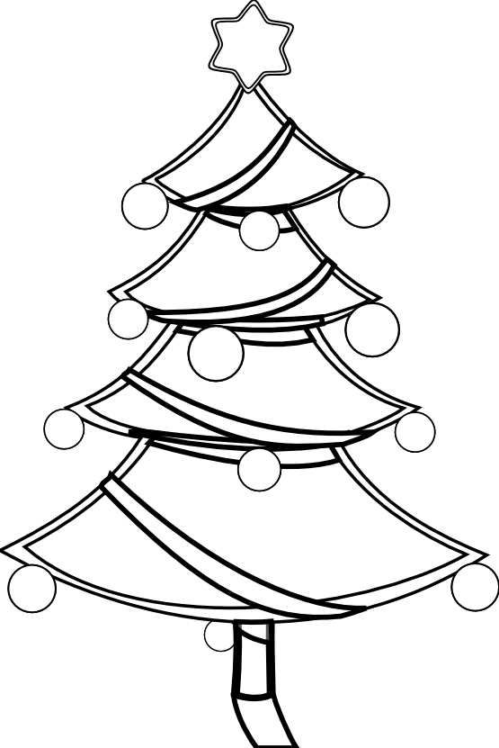 Christmas tree  black and white christmas tree clipart black and white 2
