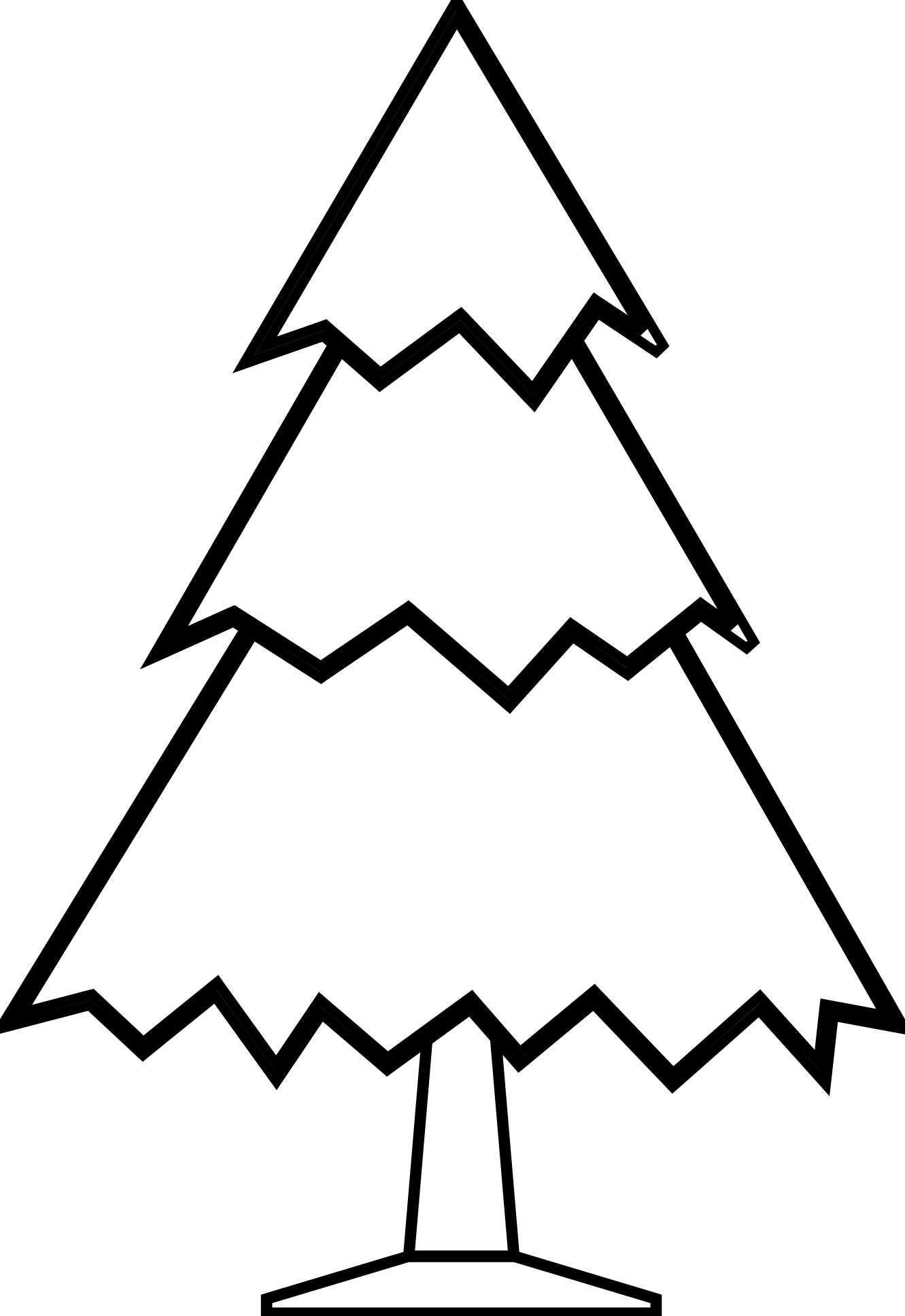 Christmas tree  black and white christmas tree clipart black and white free 5