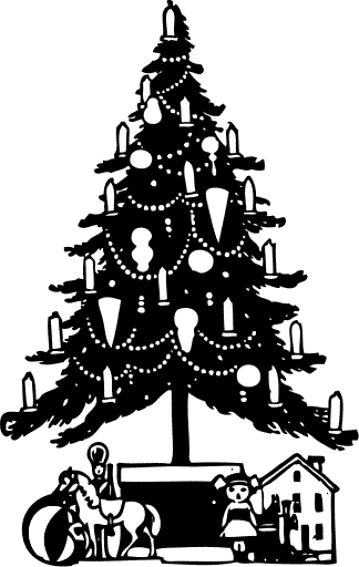 Christmas tree  black and white christmas tree clipart black and white free clipartfest
