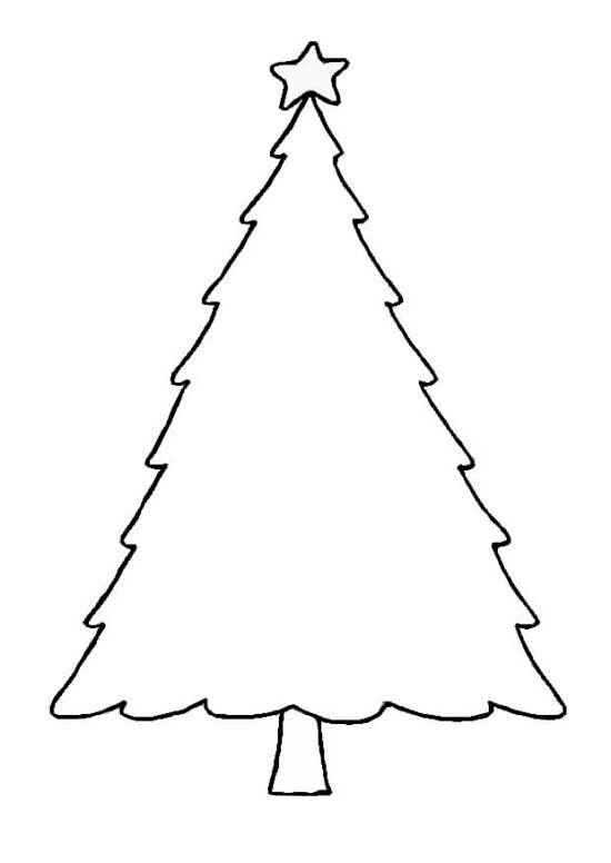 Christmas tree  black and white christmas tree outline clipart