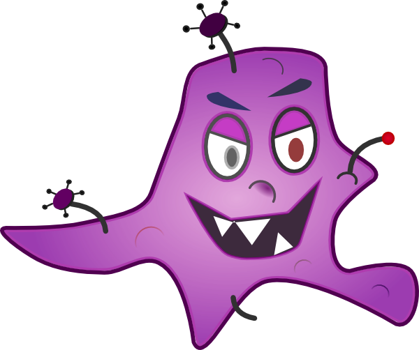 Clip art germs and bacteria