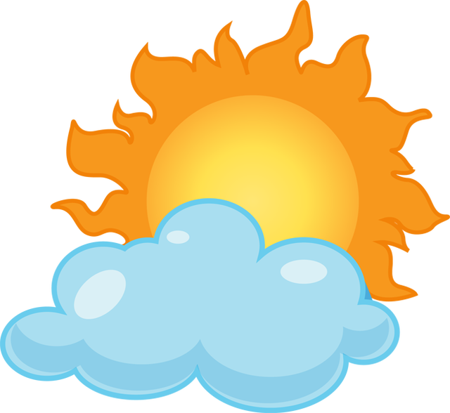 Clip art partly sunny rainy clipart