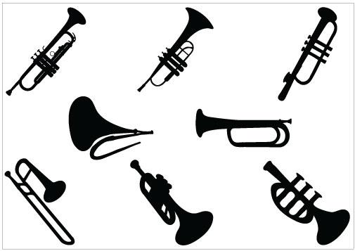 Clip art picture of trumpet clipart image 2