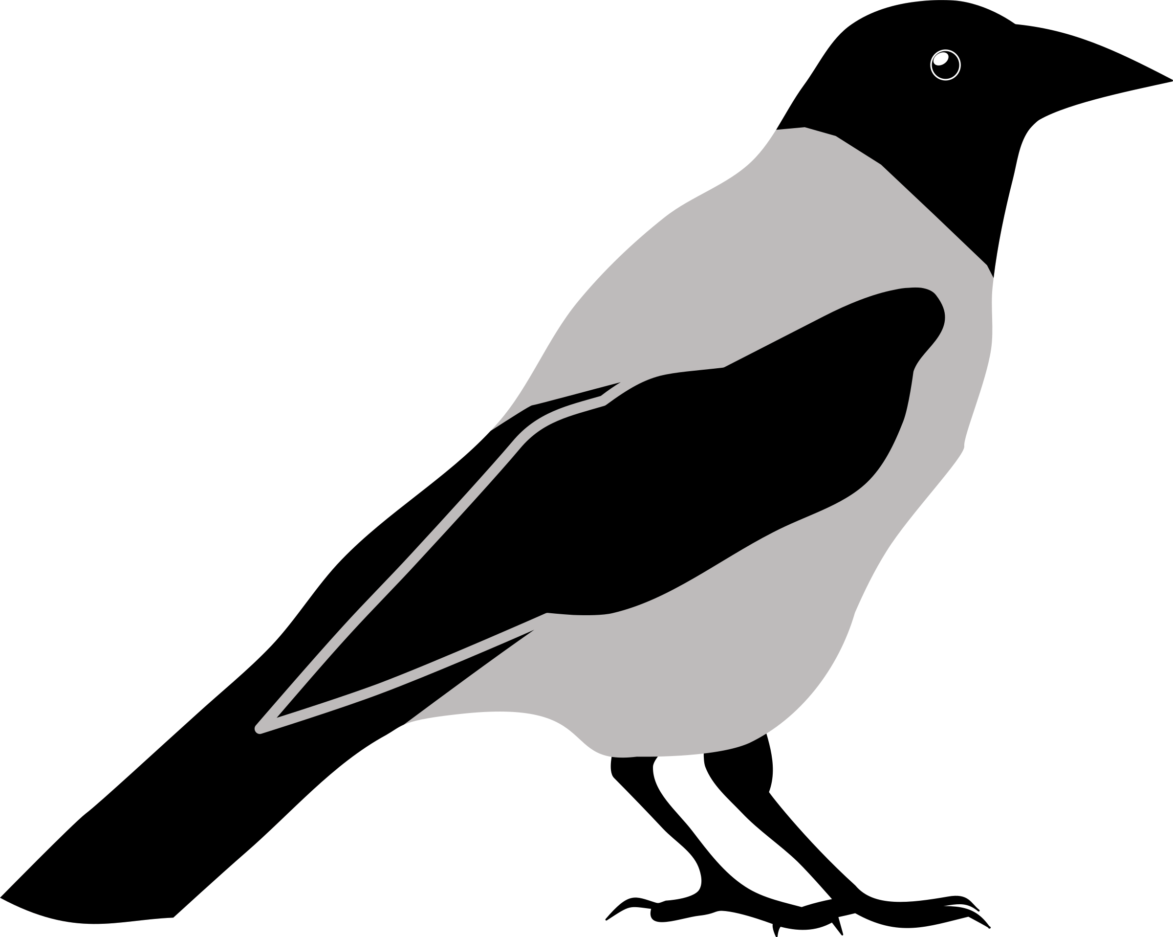 Clipart crow by rones