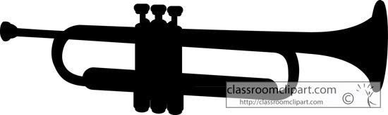 Clipart trumpet silhouette clipartfest 3