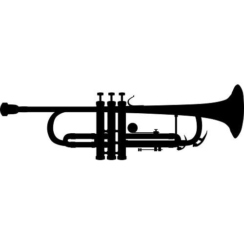 Clipart trumpet silhouette clipartfest