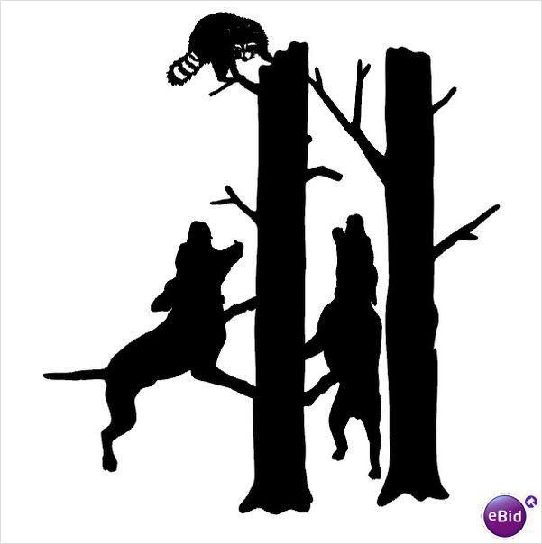 Coon hunting clip art clipart free download