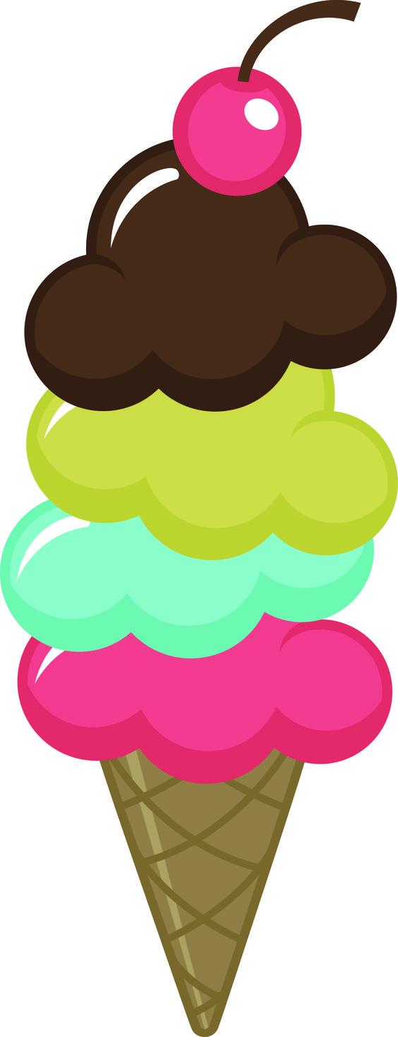 Cream cute clipart and ice cream cones on