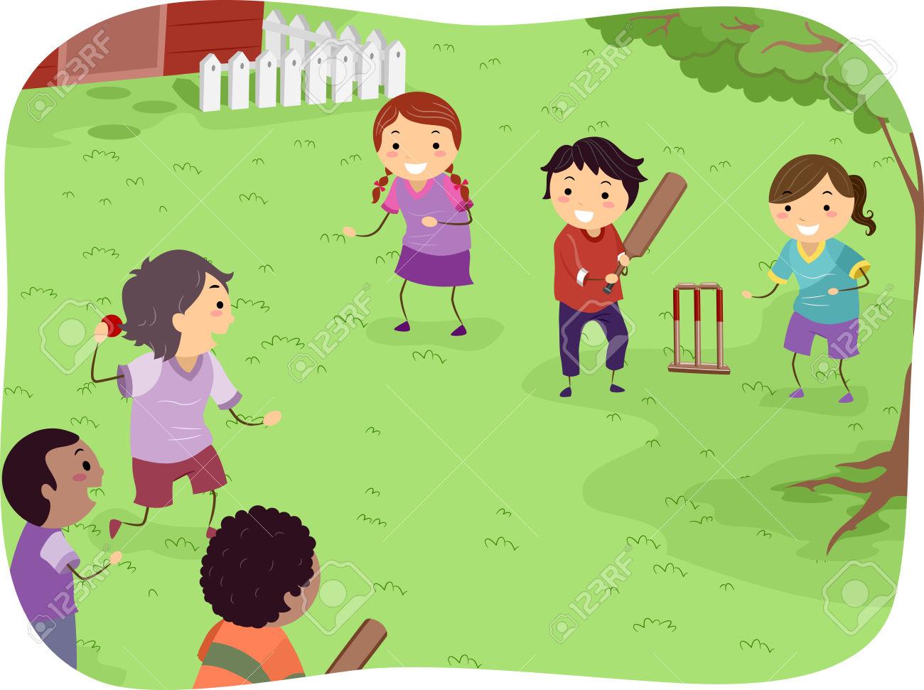 Cricket match clipart clipartfest