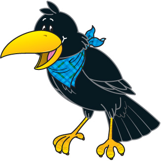 Crow clip art black and white free clipart images 2