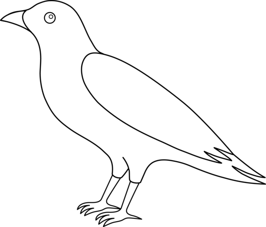 Crow clip art black and white free clipart images 7