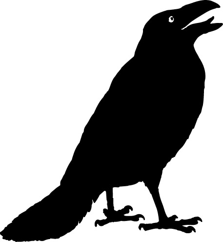 Crow clip art black and white free clipart images
