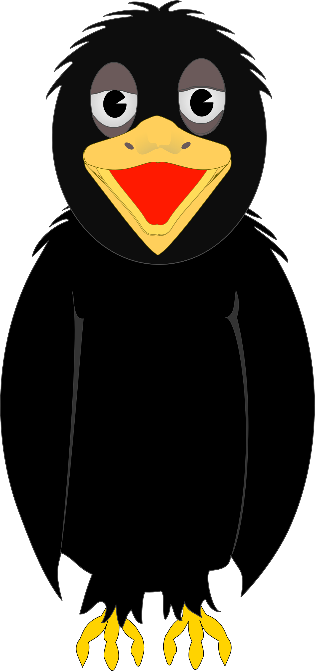 Crow clipart hostted