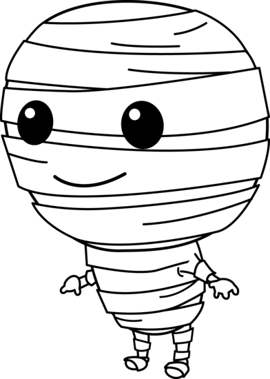 Cute halloween mummy clip art free clipart images 4