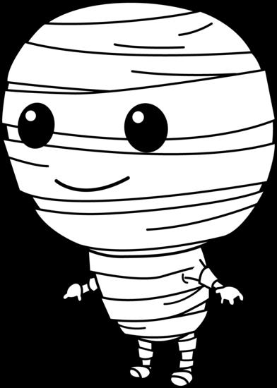 Cute halloween mummy clip art free clipart images 4
