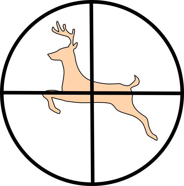 Deer hunting clipart free images