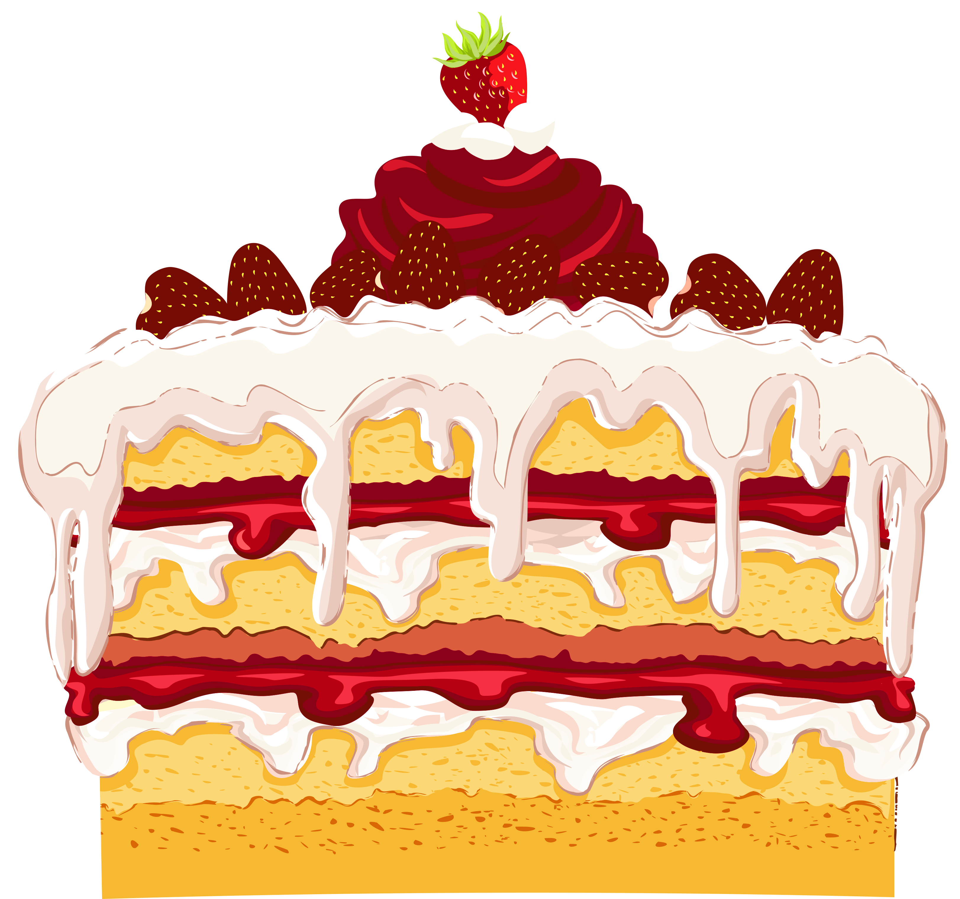 Dessert strawberry cake clipart clipartfest