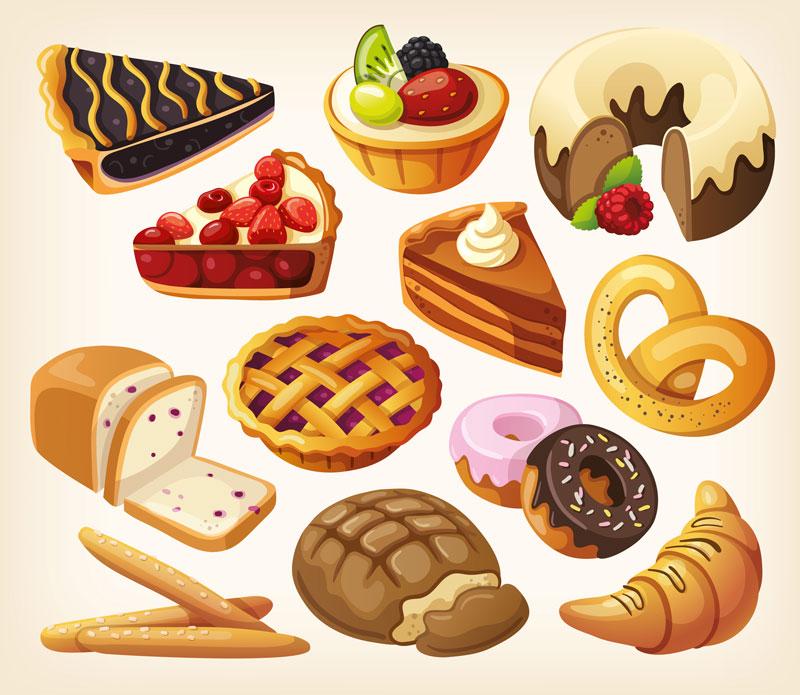 Dessert tray clipart 2
