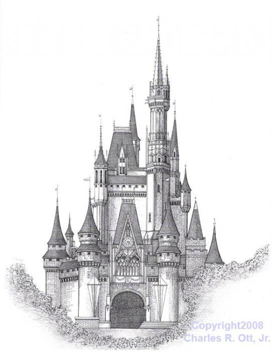 Disney castle cinderella castle clipart