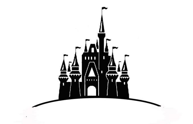 Disney castle logo clipart 3
