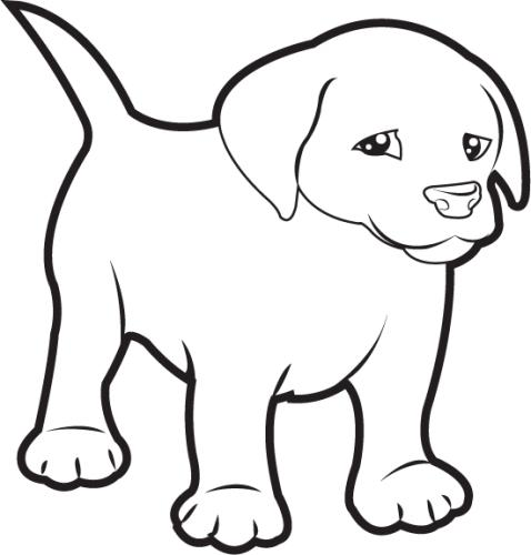 Dog  black and white black and white clipart of dog clipartfest