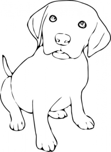 Dog  black and white clip art black and white dogs 3 clipart 2